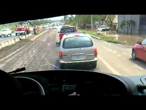 Desastre en Veracruz - Carretera por San Pancho - Huracán Karl
