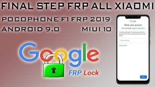 NEW FRP XIAOMI POCO F1 REMOVE GOOGLE ACCOUNT 2019 PATSH SECURITY POCOPHONE