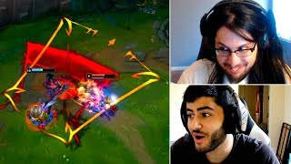 Imaqtpie Reacts *NEW* Aatrox GAMEPLAY   Pobelter & QT Clapped   Yassuo   Gosu   LoL Funny Moments