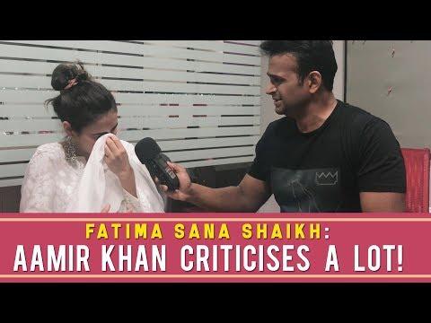 Fatima Sana Shaikh : 'Aamir Khan criticises a lot! ' #Part1 #ThugsofHindostan thumbnail