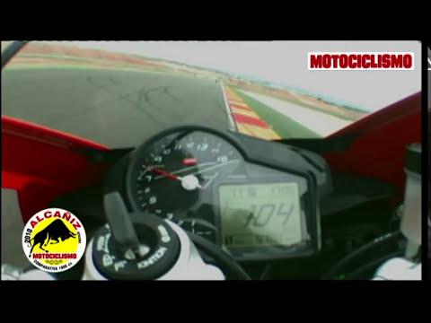 Onboard Aprilia RSV4 Factory - Prova comparativa Motociclismo maxisportive circuito Alcaniz