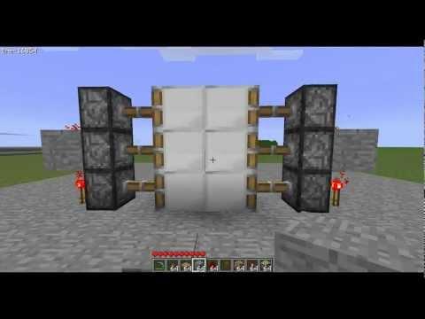 how to make sliding piston doors minecraft