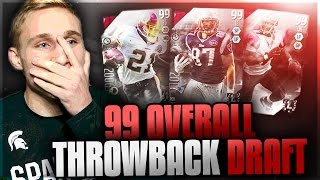 99 OVERALL THROWBACK DRAFT CHAMPIONS! Madden 17 Draft Challenges