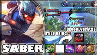 1 SEASON 900 GAMES WITH SABER! [by s???????] SABER BUILD & GAMEPLAY ~ TOP 1 GLOBAL ~ MOBILE LEGENDS