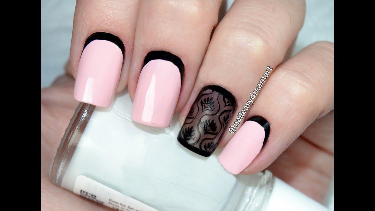 Дизайн чулок на ногтях