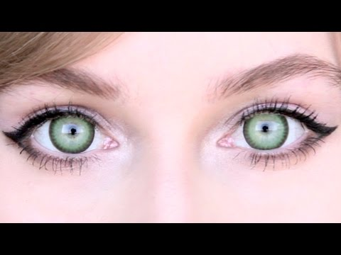natural green circle lenses review | for light + dark eyes