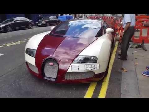 Bugatti Veyron Gets parking ticket stuck on in Central London! £1,000,000 BUGATTI FAIL