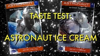 Astronaut Ice Cream: Freeze-Dried Mint Chocolate Chip and Ice Cream Sandwich