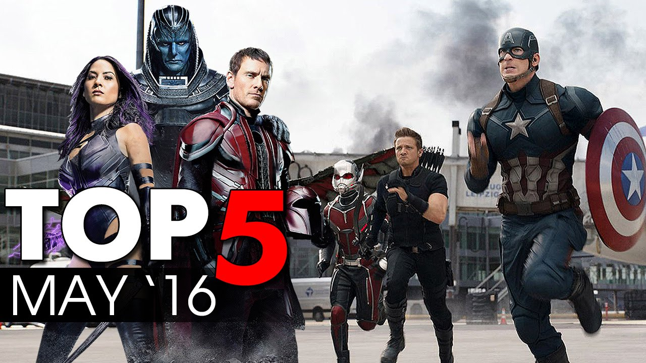 Top 5 Movie Releases May 2016 - What are you watching? | Captain America: Civil War [HD]
