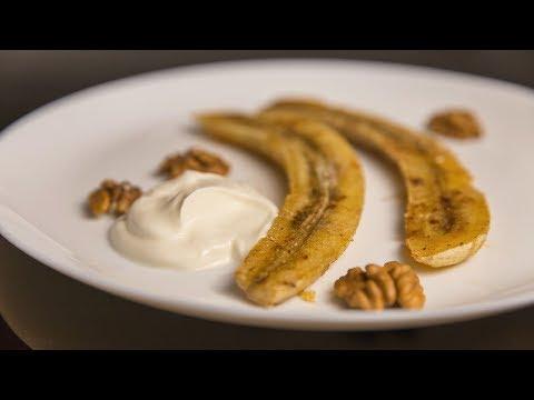 Бананы запеченные с медом и корицей