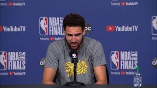 Klay Thompson Full Interview - Game 1 Preview | 2019 NBA Finals Media Availability