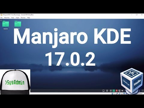Manjaro KDE 17.0.2 Installation on Oracle VirtualBox [2017]