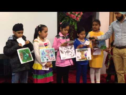 Kids Reciting Inspirational Poems On Environment - Sikh Env video