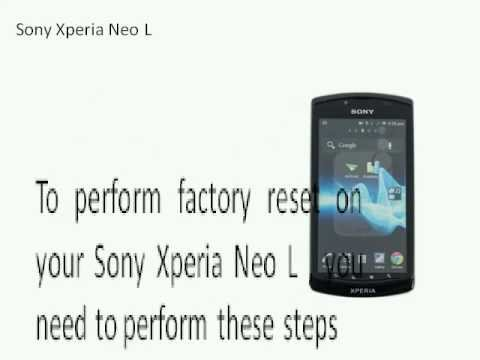 Sony Xperia Neo L factory reset