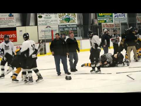 Line Brawl at PEI Midget AA Provincials 2013