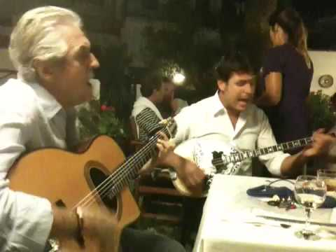 Kostas Kalafatis and Xristos Mitrentzis at Annas