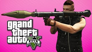 GTA 5 Online Funny Moments - Insurgents VS Rpg's, $10,000 Bet