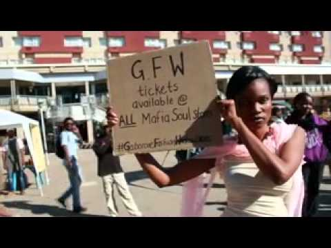 Gaborone Fashion Weekend Flash MOB at the Main Mall