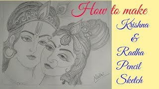 All Clip Of Pencil Drawings Of Krishna And Radha Bhclip Com