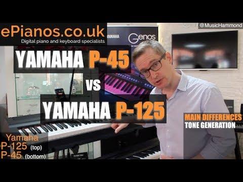 Yamaha P45 vs P125 comparison review - What piano should I buy?