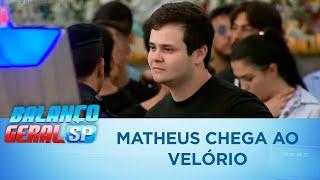 Matheus, da dupla com Kauan, chega ao velório de Gabriel Diniz