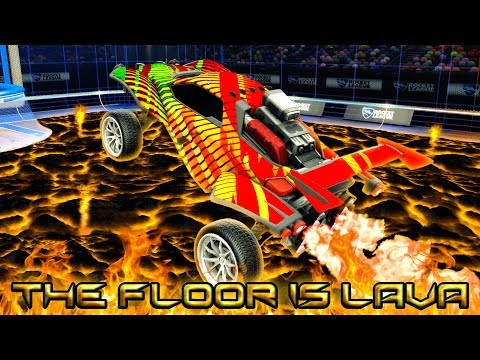 *NEW* ROCKET LEAGUE GAMEMODE - THE FLOOR IS LAVA | Painted MANTIS GIVEAWAY FORFEIT!
