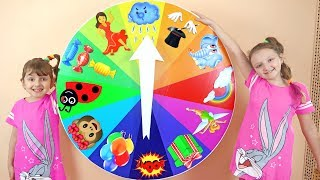 Colorful Spin Wheel Challenge - Baby Toys Spinning Wheel Game