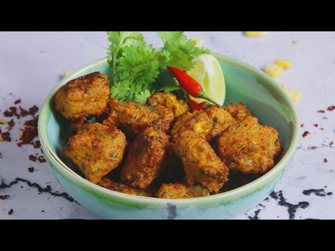 Gobble | How to make Corn Fritters | Delicious Starter Recipe | हिंदी में मकई पकोड़े | Veg Snacks