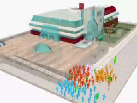 Simulacion de evacuacion de edificios 4. Video final español. www.segurintenorte.es
