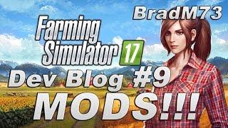 Farming Simulator 17 - Dev Blog #9 - Console Mods + Blog Review!!