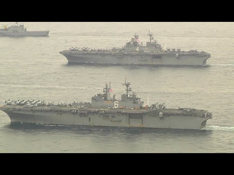 US Navy Ship USS Bonhomme Richard Off Korean Coast