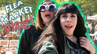 FLEA MARKET SHOPPING ADVENTURE VLOG | HAUL
