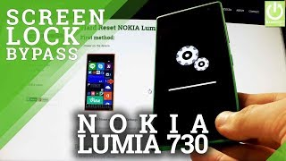 Hard Reset NOKIA Lumia 730 - how to bypass Lock Screen Pattern