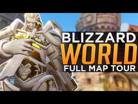 Overwatch: NEW Map BlizzardWorld LIVE! - FULL Tour!