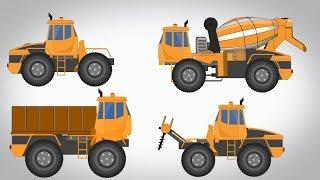 Transformer | Drilling Machine | Cement Mixer | Dumpster Video For Kids