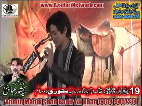 Zakir Ali Abbas Askari 19 Rabi Ul awal 2017