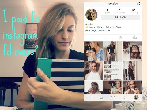 Experiment: Paying for instagram followers