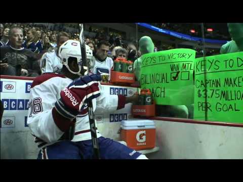 The Green Men Doing Their Thing Against PK Subban 3/10/12 [HD]