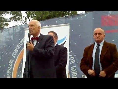 Janusz Korwin Mikke,  Marian Kowalski W Lublinie 29.09.2011