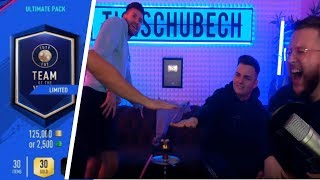 Fifa 19 TOTY PACK OPENING BATTLE mit NoHandGaming & Bossio | Tisi Schubech Stream Highlights