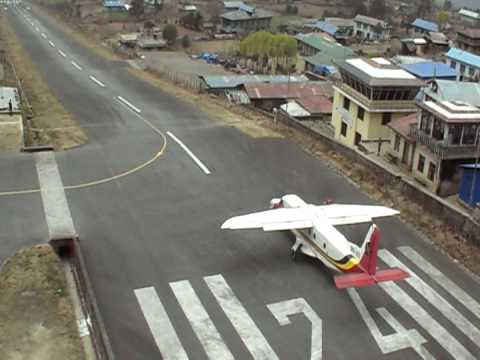 Lukla Airport Nepal 4 take offs