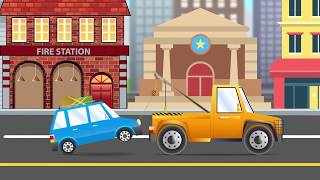 Tow Truck | Cars & Trucks Cartoons for Kids | Children Videos By Kids 1st Puzzles Channel