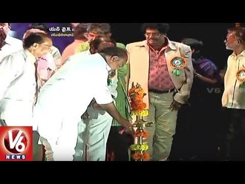 Speaker Madhusudhana Chary Felicitate Goreti Venkanna With Dasarathi Sahitya Award | V6 News