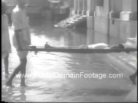 1967 Monsoon rain floods India after drought Archival Newsreel PublicDomainFootage.com