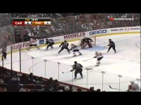 Philadelphia Flyers vs Carolina Hurricanes. 11 december 2008