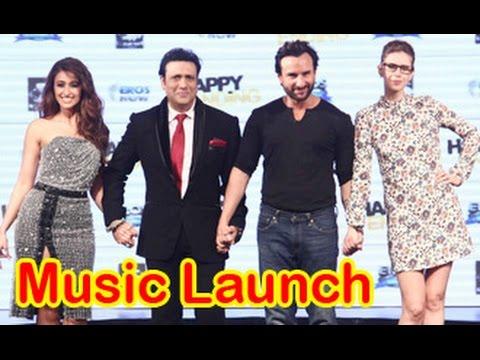 Saif Ali Khan, Ileana D'cruz, Kalki Koechlin, Govinda at 'Happy Ending' Music Launch