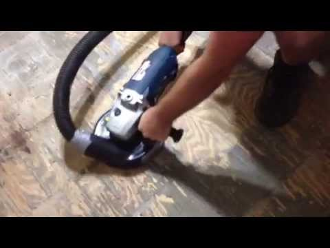 How To Remove Thinset From Plywood Youtube