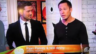 William deVry and Ryan Paevey on the Chew October 24, 2014