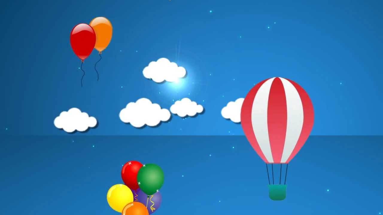 2d Sky Cartoon Background 2 Hd Loop Youtube