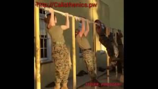 Women Marines Doing Pull Ups- Best Calisthenics Program